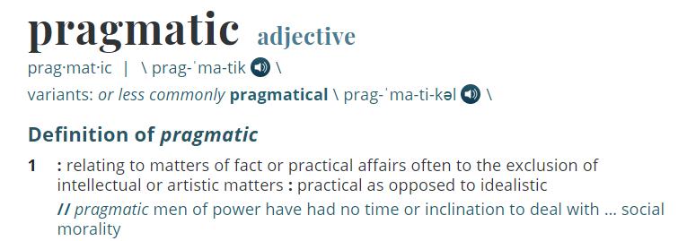 The pragmatist, ambivalent